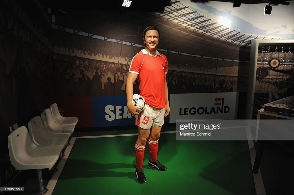 A general view of wax figure of Hans Krankl is seen at Madame Tussauds Vienna on September 2, 2013 in Vienna, Austria.