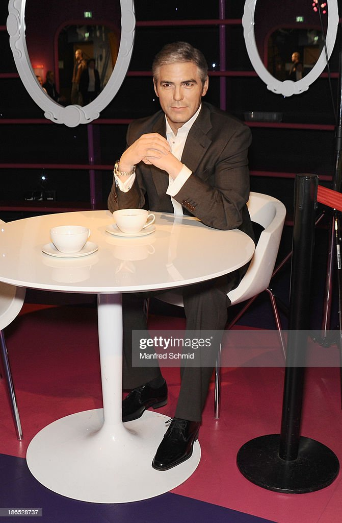 A general view of waxfigure of <a gi-track='captionPersonalityLinkClicked' href=/galleries/search?phrase=George+Clooney&family=editorial&specificpeople=202529 ng-click='$event.stopPropagation()'>George Clooney</a> is seen at Madame Tussauds on October 29, 2013 in Vienna, Austria.