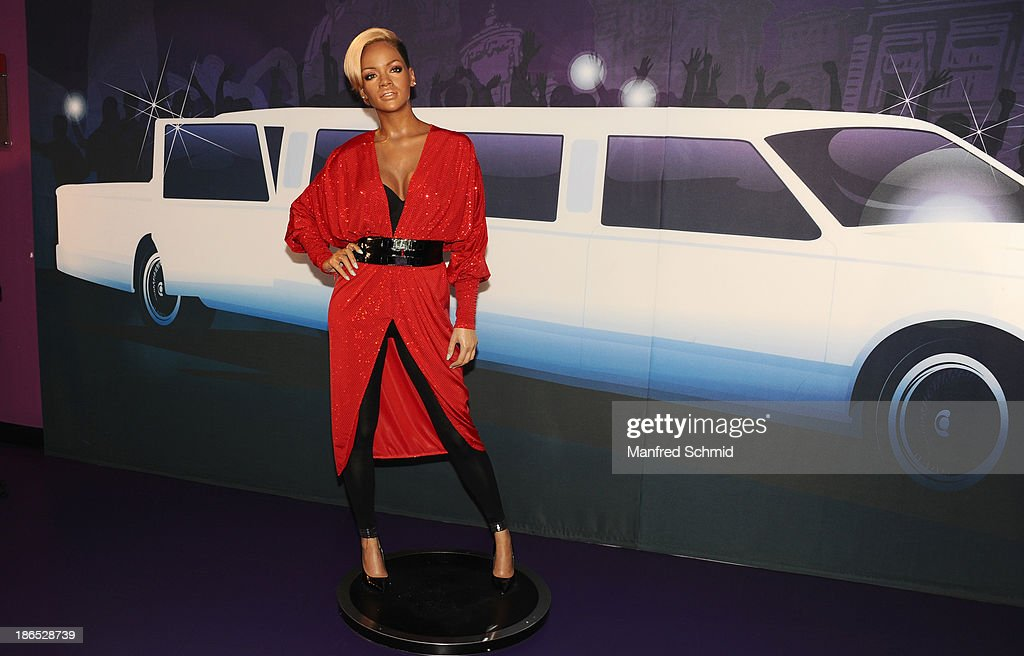 A general view of waxfigure of Rihanna is seen at Madame Tussauds on October 29, 2013 in Vienna, Austria.