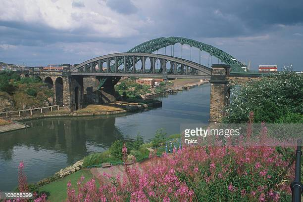 A general view of Wearmouth Bridge which crosses the River Wear Sunderland Tyne and Wear circa 1985