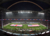 A general view of Wembley Stadium ahead of the NFL International Series game between San Francisco 49ers and Jacksonville Jaguars at Wembley Stadium...