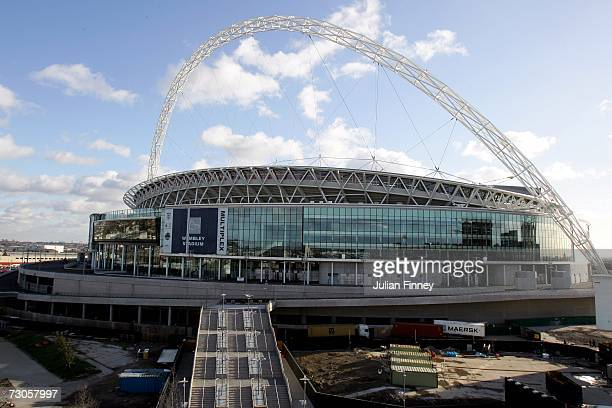 A general view of Wembley Stadium on January 21 2007 in London England