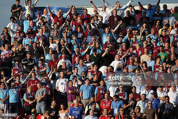A general view of West Ham United fans during the 2008 Pepsi MLS All Star Game between the MLS All Stars and West Ham United at BMO Field on July 24...