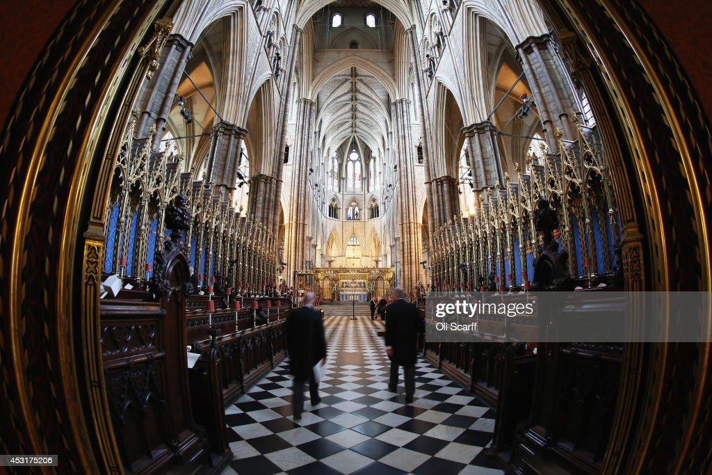 A general view of Westminster Abbey ahead of the candlelight vigil to be attended by the Duchess of Cornwall to mark the centenary of Britain's...