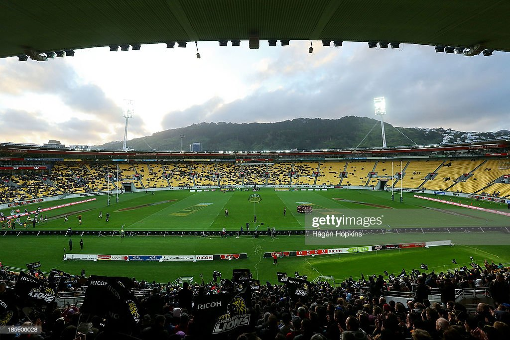 A general view of Westpac Stadium during the ITM Cup Premiership Final match between Wellington and Canterbury at Westpac Stadium on October 26, 2013 in Wellington, New Zealand.