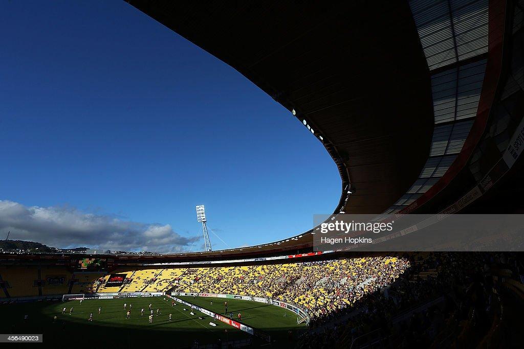 A general view of Westpac Stadium during the round 10 A-League match between the Wellington Phoenix and Brisbane Roar at Westpac Stadium on December 14, 2013 in Wellington, New Zealand.