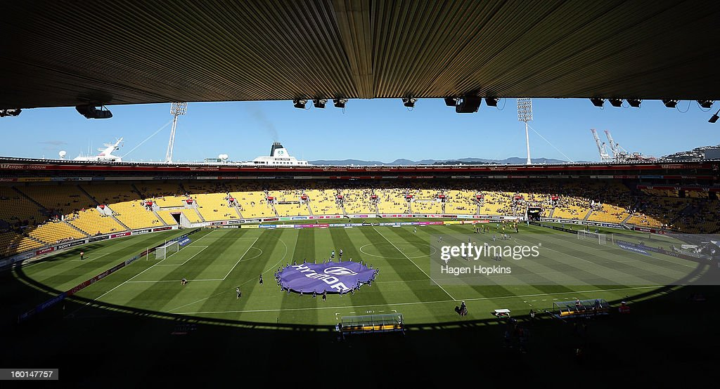 A general view of Westpac Stadium during the round 18 A-League match between the Wellington Phoenix and the Newcastle Jets at Westpac Stadium on January 27, 2013 in Wellington, New Zealand.