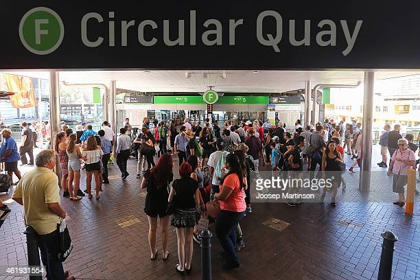 A general view of wharf number 5 at Circular Quay on January 22 2015 in Sydney Australia Circular Quay was evacuated after police were alerted to a...