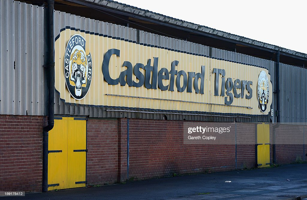 General view of Wheldon Road, home of the Castleford Tigers on January 9, 2013 in Castleford, United Kingdom.
