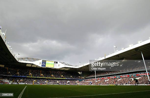 A general view of White Hart Lane during the FA Barclaycard Premiership match between Tottenham Hotspur and Everton at White Hart Lane on October 4...