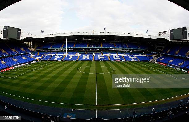 A general view of White Hart Lane home of Tottenham Hotspur Football Club on March 9 2011 in London England