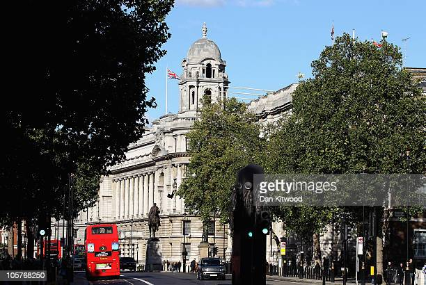 A general view of Whitehall on October 20 2010 in London England The Chancellor of the Exchequer George Osborne is announcing the coalition...