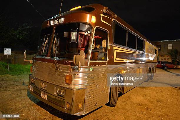 A general view of Willie Nelson's tour bus during the Marshall Headphones secret and intimate speakeasy popup party at the SXSW 2015 music festival...