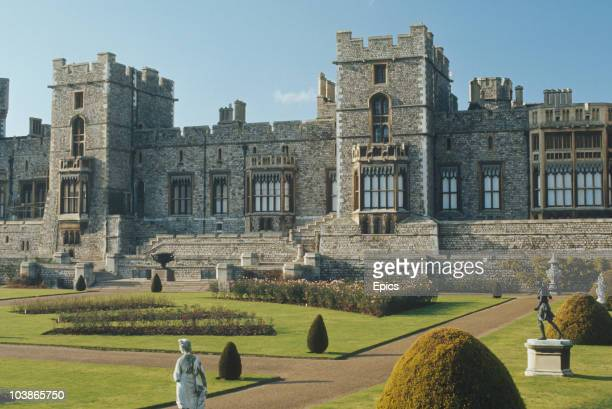 A general view of Windsor Castle and gardens Windsor Berkshire circa 1980 Windsor Castle is the largest inhabited castle in the world and is one of...