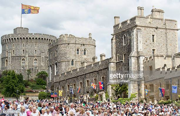 General view of Windsor Castle during The Order of the Garter Service at St George's Chapel at Windsor Castle on June 15 2015 in Windsor England