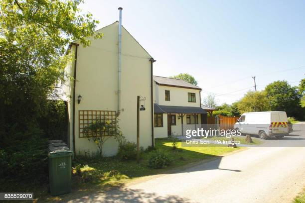 A general view of Wishing Well Farm at Brokerswood near Westbury Wiltshire home of Neil Puttick his Japanese wife Kazumi and their son Samuel Puttick...