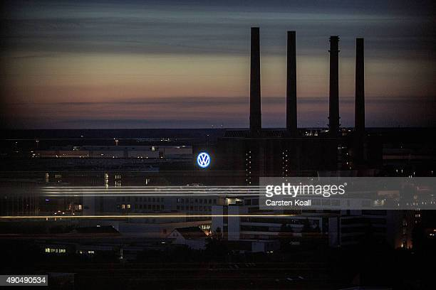 A general view of Wolfsburg home to German carmaker Volkswagen on September 28 2015 in Wolfsburg Germany Wolfsburg was initially built by authorities...