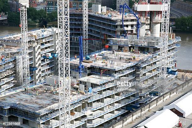 A general view of work taking place at Battersea Power station on June 18 2015 in London England Photo by John Phillips/Getty Images for Battersea...