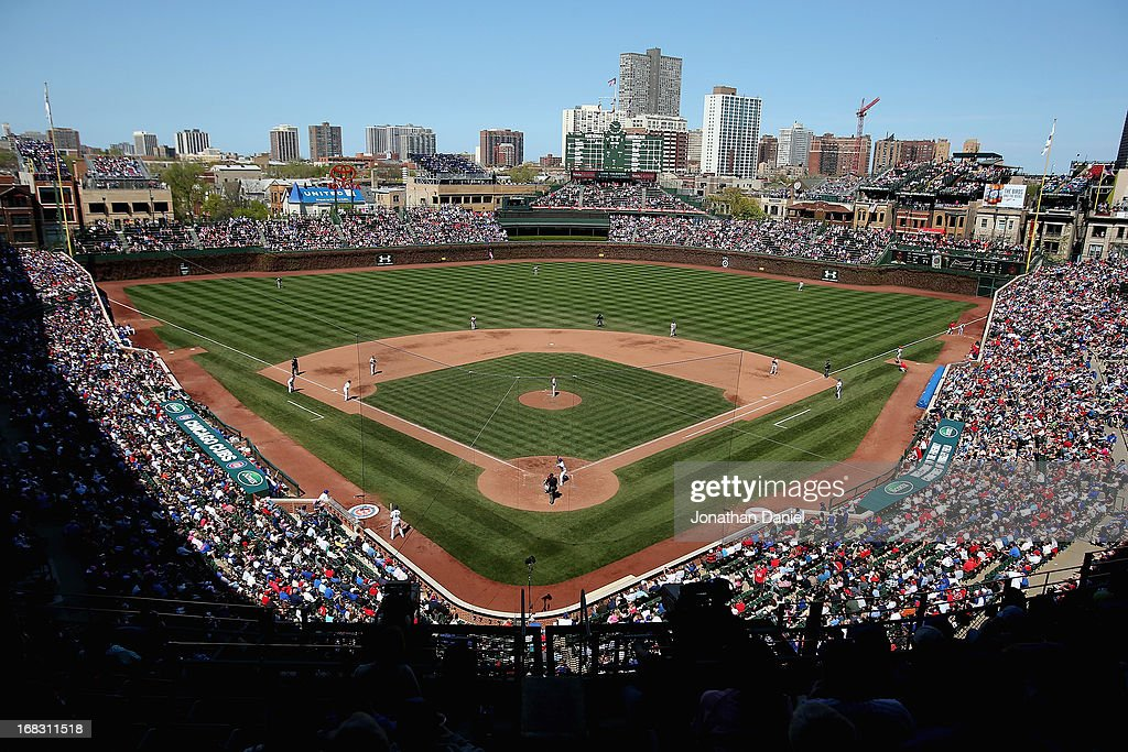 A general view of Wrigley Field as the Chicago Cubs take on the St. Louis Cardinals on May 8, 2013 in Chicago, Illinois.