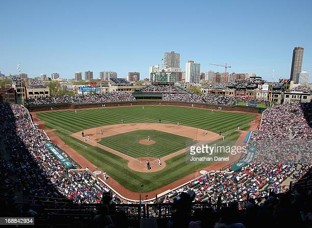 A general view of Wrigley Field as the Chicago Cubs take on the St Louis Cardinals on May 8 2013 in Chicago Illinois