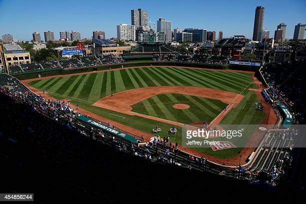 A general view of Wrigley Field before the Pittsburgh Pirates and Chicago Cubs game on September 7 2014 in Chicago Illinois