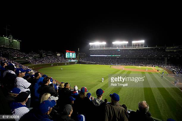 A general view of Wrigley Field during Game 4 of the 2016 World Series between the Cleveland Indians and the Chicago Cubs on Saturday October 29 2016...