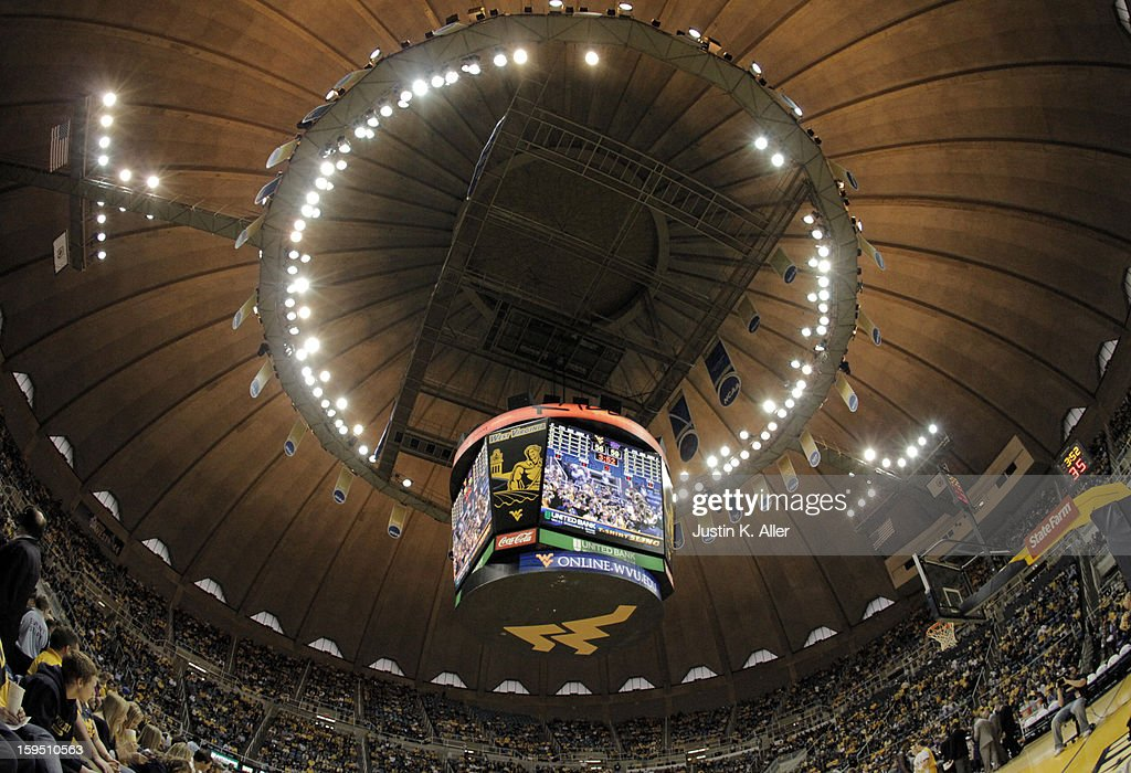 A general view of WVU Coliseum during the game between the Kansas State Wildcats and the West Virginia Mountaineers at the WVU Coliseum on January 12, 2013 in Morgantown, West Virginia.