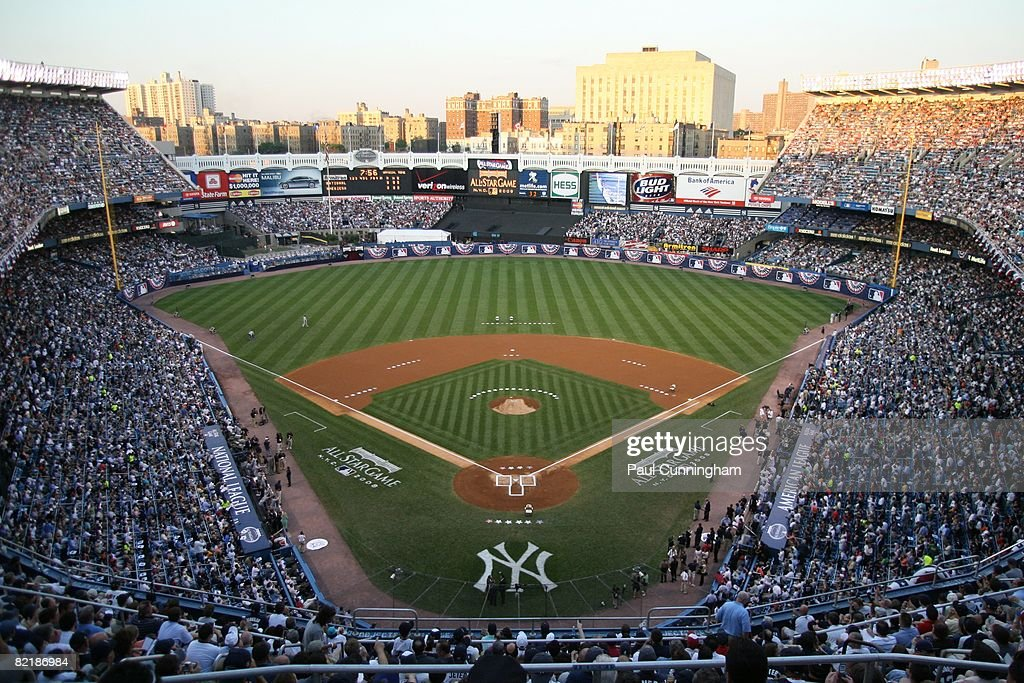 General view of Yankee Stadium during the 79th MLB All-Star Game in the Bronx, New York on July 15, 2008. The American League defeated the National League 4-3.