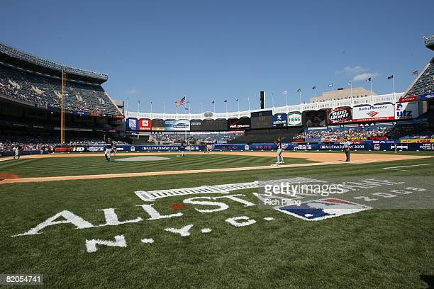 General view of Yankee Stadium during the Taco Bell AllStar Legends Celebrity Softball Game at the Yankee Stadium in the Bronx New York on July 13...