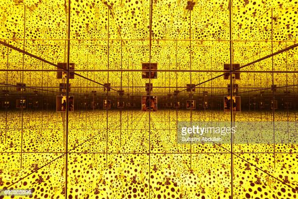 A general view of Yayoi Kusama exhibit titled 'The Spirits of Pumpkins Descended into the Heavens' during a media preview at National Gallery...