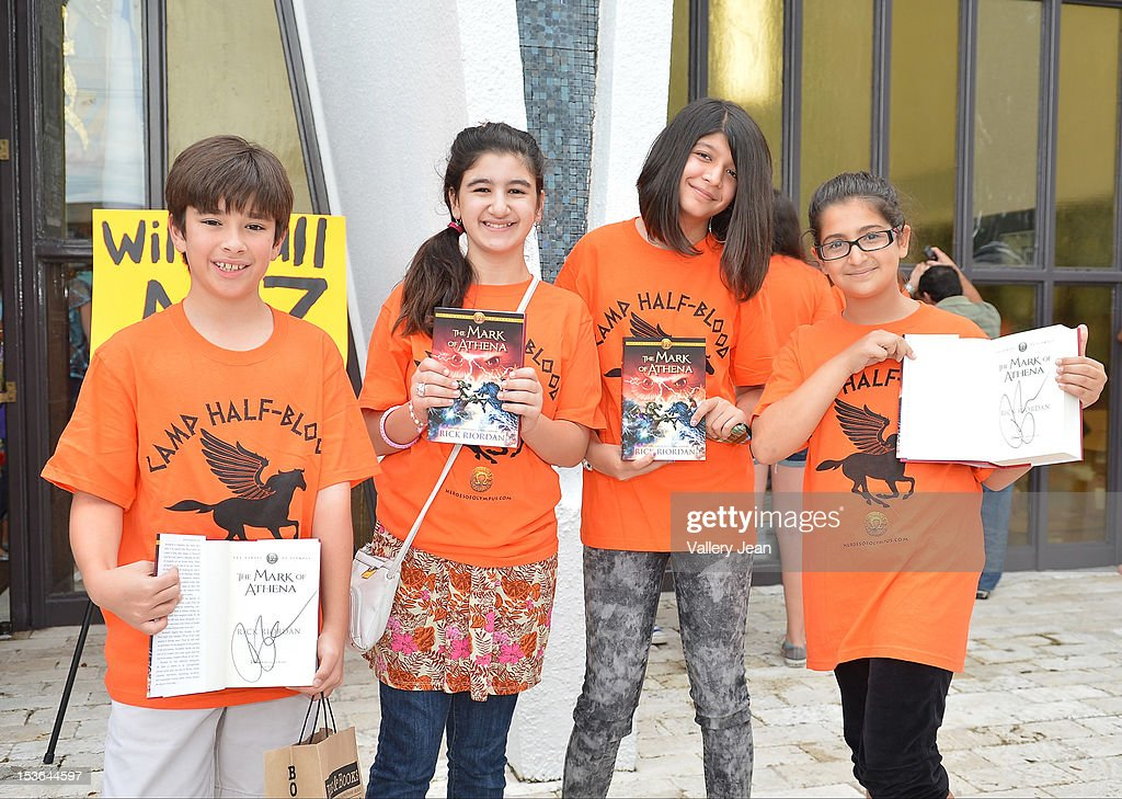 General view of young fans during Rick Riordan's presentation of 'The Mark of Athena' at Temple Judea on October 7, 2012 in Miami, Florida.