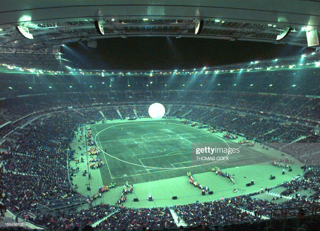 General view ofthe official inauguration ceremony of the Stade de France 28 January before the friendly soccer game opposing France to Spain in...