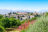 General view old city Of Granada, Spain.