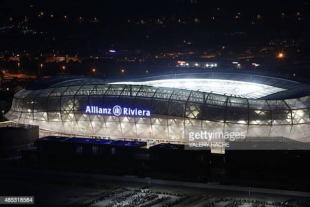 General view on August 22 2015 of the 'Allianz Riviera' stadium in Nice southeastern France AFP PHOTO / VALERY HACHE