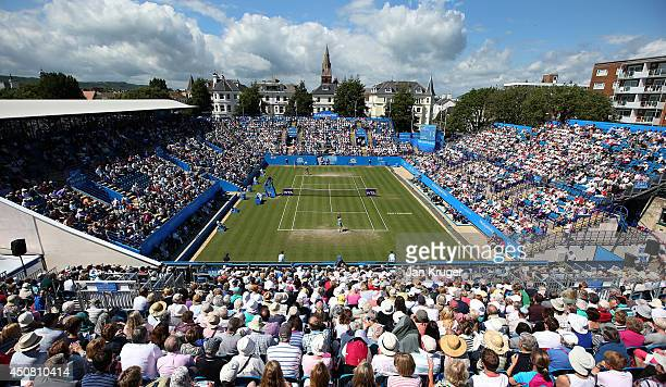 General view on day five of the Aegon International at Devonshire Park on June 18 2014 in Eastbourne England