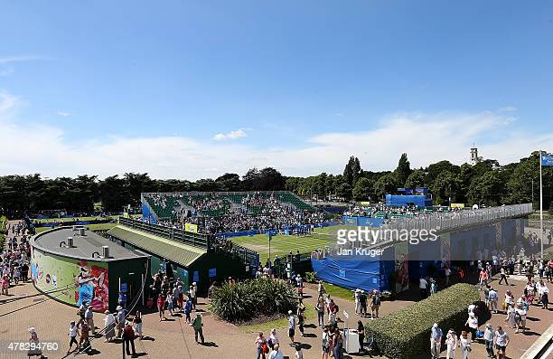 General view on day four of the Aegon Open Nottingham at Nottingham Tennis Centre on June 24 2015 in Nottingham England