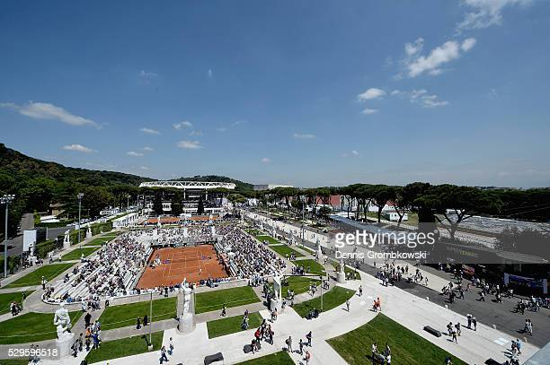 A general view on Day Two of The Internazionali BNL d'Italia 2016 on May 09 2016 in Rome Italy
