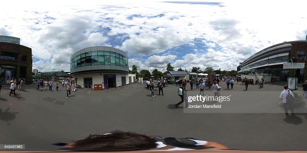 A general view on day two of the Wimbledon Lawn Tennis Championships at the All England Lawn Tennis and Croquet Club on June 28th, 2016 in London, England.