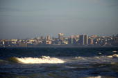 General view on May 12 2010 shows the city of Port Elizabeth from the highway to grahamstown Port Elizabeth will be one of the host city for the 2010...