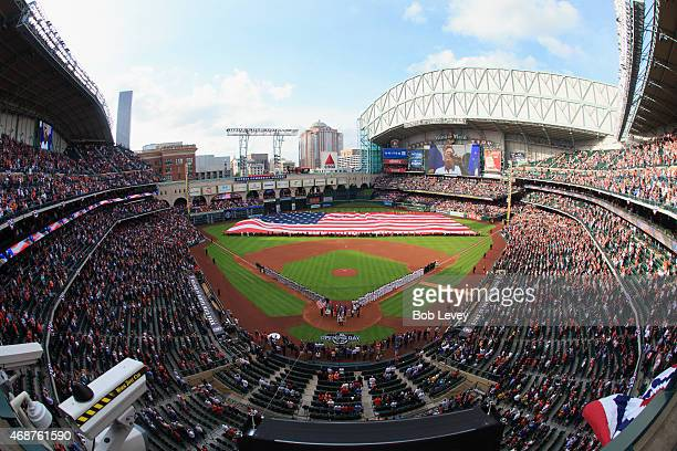 A general view on Opening Day at Minute Maid Park on April 6 2015 in Houston Texas