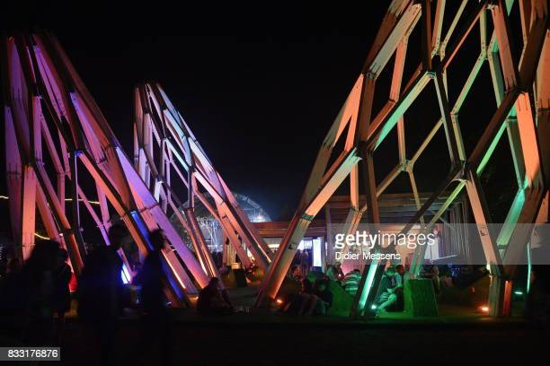 General view on the decoration on Sziget festival on August 14 2017 in Budapest Hungary