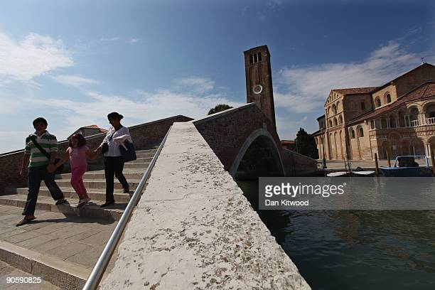 A general view on the island of Murano on September 10 2009 in Venice Italy Traditional glass making became established on the island of Murano in...