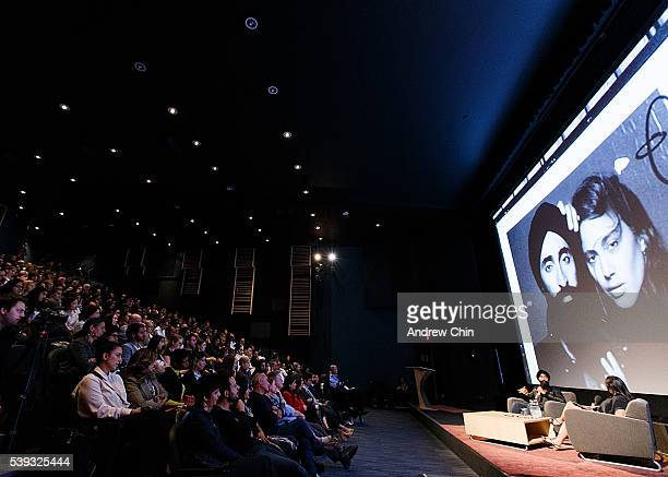 General view onstage during designer Waris Ahluwalia's interview at the Indian Summer Festival at Goldcorp Centre for the Arts on June 10 2016 in...