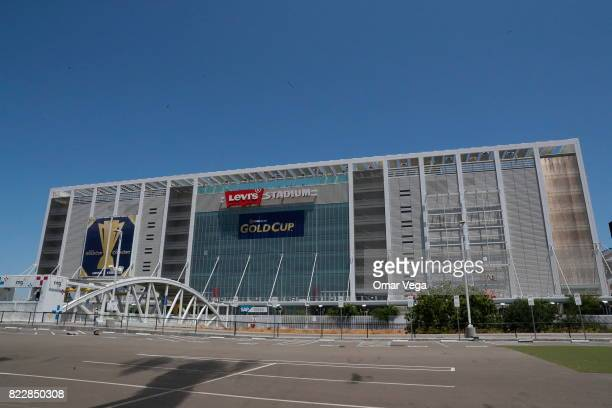 A general view os Levi's Stadium prior the United States National Team press conference prior to the final match against Jamaica at Levi's Stadium on...