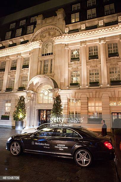 General view outside at the London Collections Men Esquire party at Rosewood London on January 6 2014 in London England