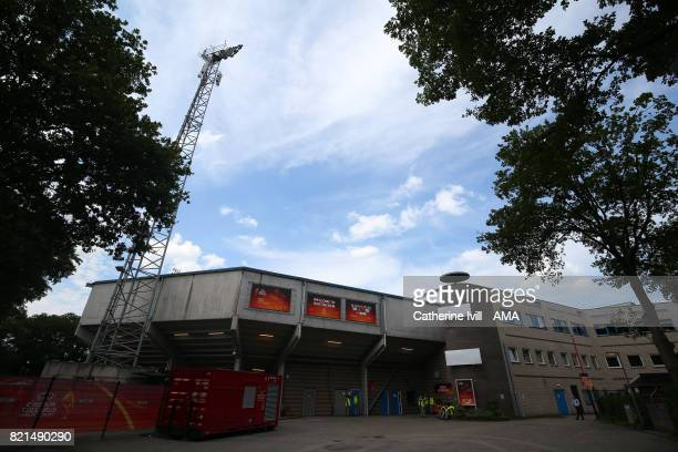 General view outside before the UEFA Women's Euro 2017 match between Iceland and Switzerland at Stadion De Vijverberg on July 22 2017 in Doetinchem...