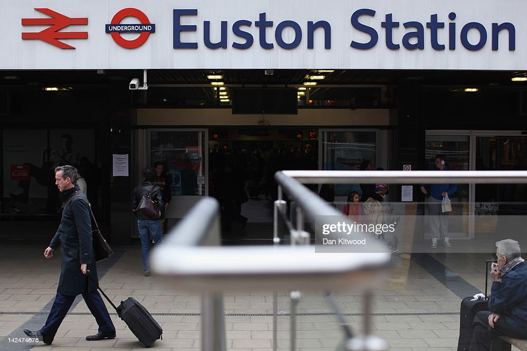 A general view outside Euston Station, on April 5, 2012 in London, England.