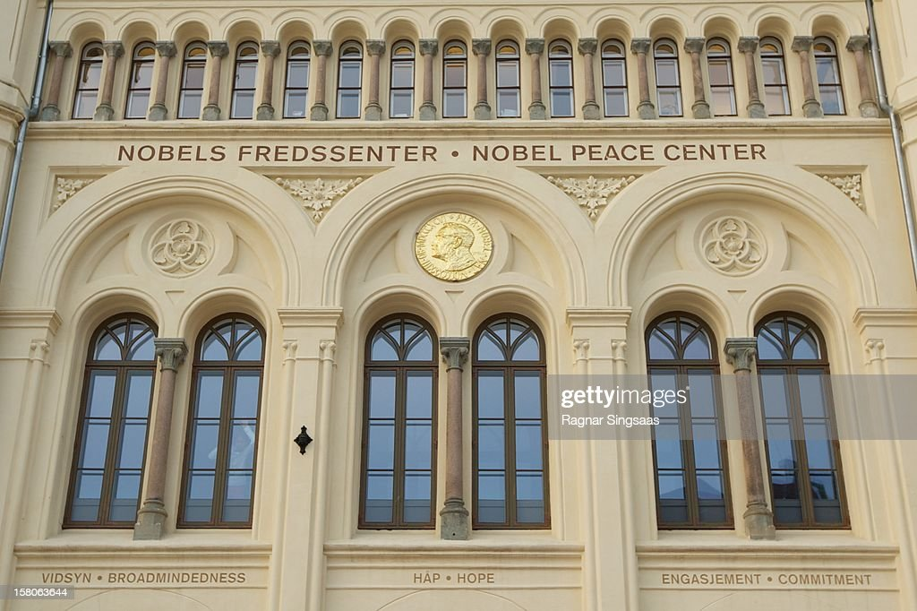 A general view outside Nobel Peace Centre ahead of the Nobel Peace Prize being awarded to The European Union (EU) at Nobel Peace Centre on December 10, 2012 in Oslo, Norway.