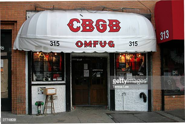 A general View outside of CBGB's bar where the Ramones once played The corner of E 2nd St and the Bowery will be renamed in memory of the late punk...
