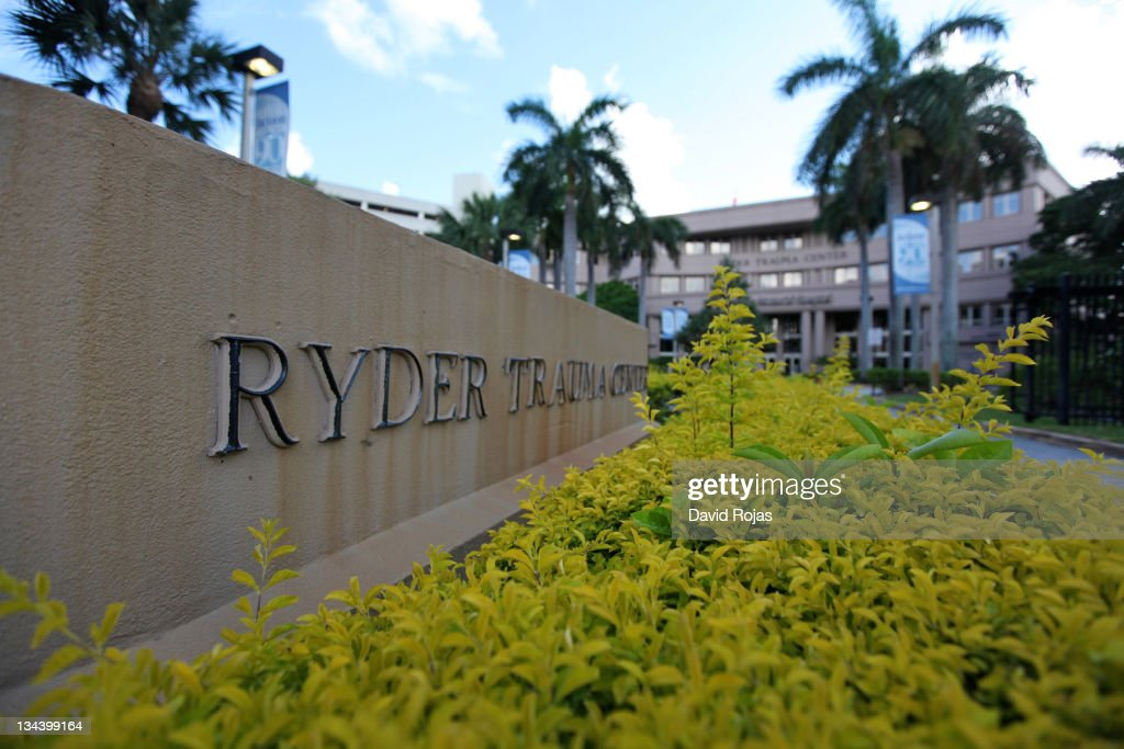 A general view outside of Ryder Trauma Center at Jackson Memorial Hospital where Sean Kingston was taken following his jet ski accident on May 30...